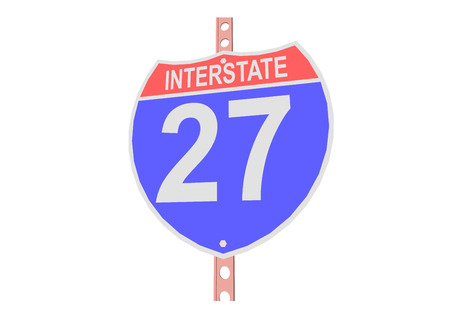 Interstate highway 27 road sign in