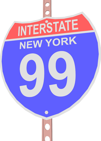 99: Interstate highway 99 road sign in New York