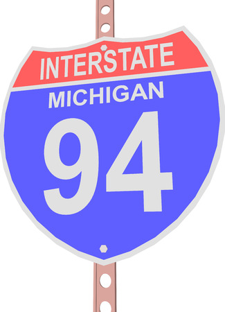 interstate: Interstate highway 94 road sign in Michigan