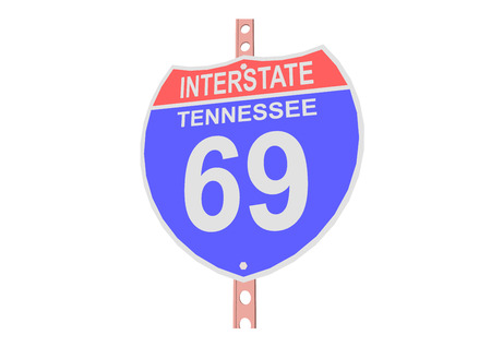 interstate: Interstate highway 69 road sign in Tennessee