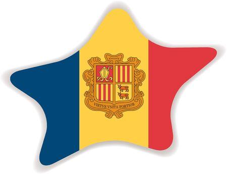 andorra: Flag of Andorra