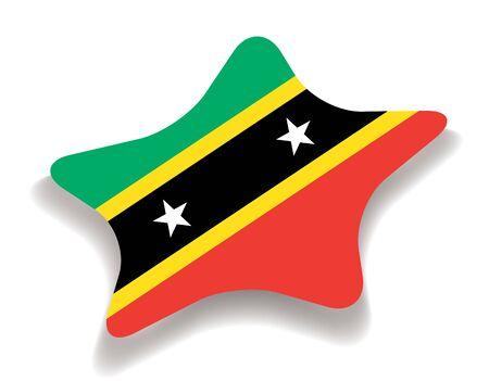 Flag of Saint Kitts and Nevis Illustration