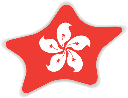 Flag of Hong Kong. Illustration