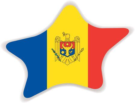 moldova: Flag of Moldova Illustration