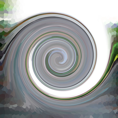 curl whirlpool: Swirls of digital paint suitable as background for projects on art, creativity and education Stock Photo