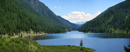 Ulagan lakes. Altai mountains. Siberia Russia. Panorama big size