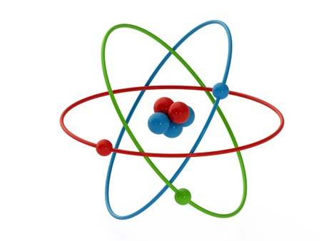 atom structure model isolate on white background Stock Photo - 14571088