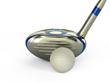 Golf Ball And Club Stock Photo - 14571093