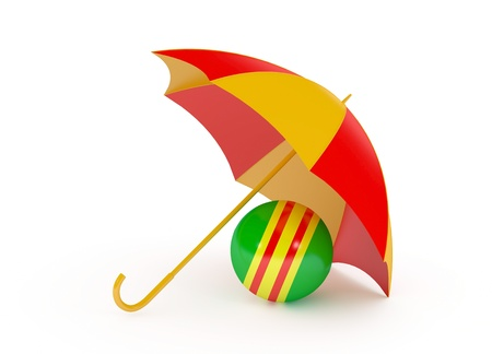 ball umbrella isolated on a white background 3d render Stock Photo - 14605713