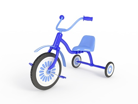Blue tricycle photo