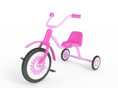 Rose tricycle isol� de rendu 3d Banque d'images
