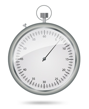 stop watch: stop watch in high detail on white