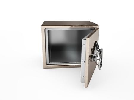 Open safe isolated on white Stock Photo - 16489128