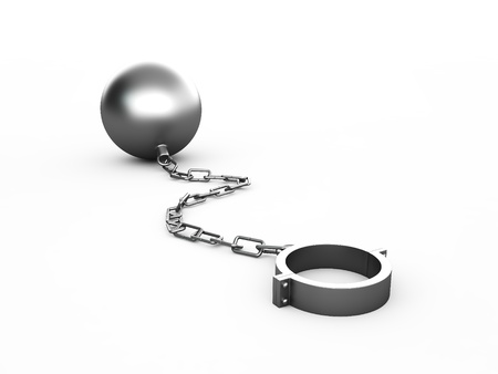 Metal shackles isolated on the white Stock Photo - 16721609