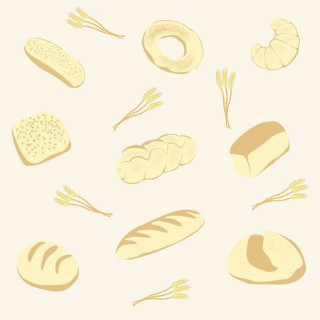 pita bread: background from bread and fancy bread