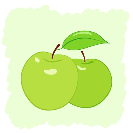 two green apples, vector illustration Stock Vector - 17216008
