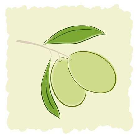 Two green olives, vector illustration Stock Vector - 17216018