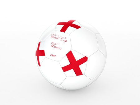 3d rendering of a soccer ball with  England flag Stock Photo - 17694577