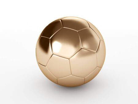 bronze soccer ball isolated on white background Stock Photo - 17694585