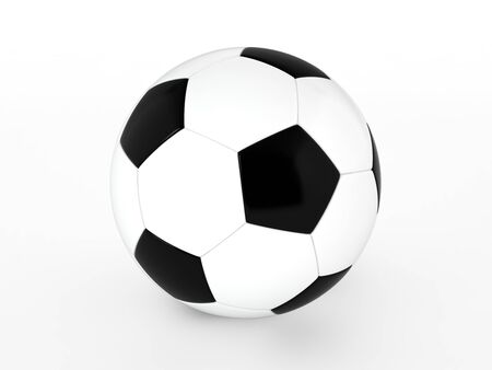 soccer ball isolated on white Stock Photo - 17694556