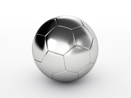 silver soccer ball isolated on white background Stock Photo - 17694587