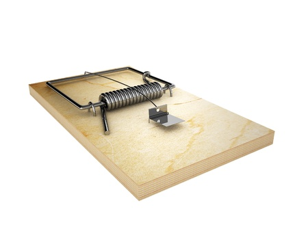 mousetrap, isolated on a white background Stock Photo - 18141142