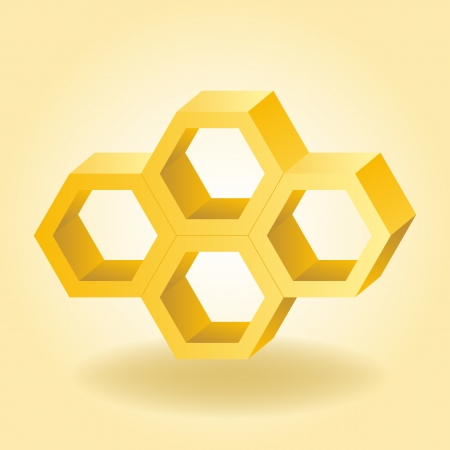 Illustration 3d abstraite de fond en nid d'abeille Illustration