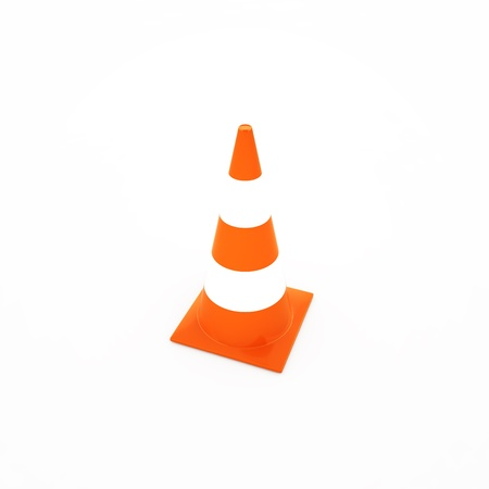 traffic cone isolated on white, 3d render Stock Photo - 18628006