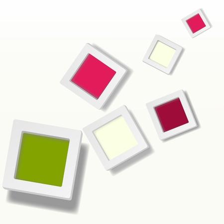 R�sum� de fond de bo�tes de couleur Mod�le pour un texte