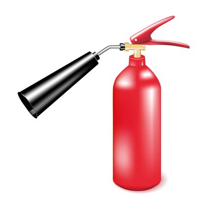 Red metal fire extinguisher  Vector illustration Vector