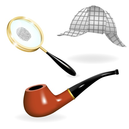 sherlock holmes: Detective vector set