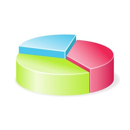 Circular diagram colorful  Vector illustration Stock Vector - 19419908