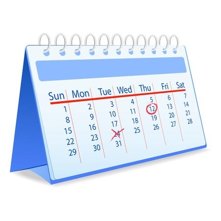 Vector calendar Illustration
