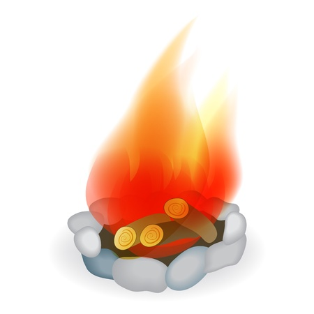 Campfire  Vector illustration