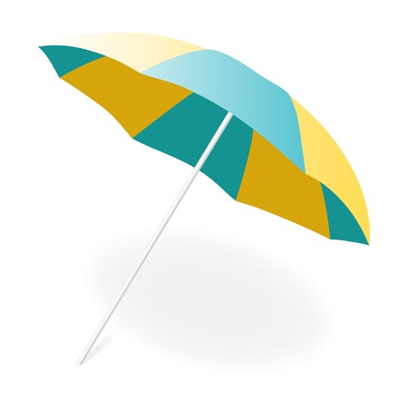 beach umbrella: Vector illustration, EPS10