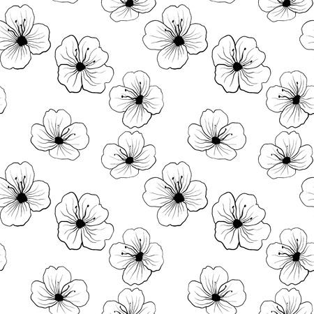 Floral seamless pattern. Vector illustration Illustration