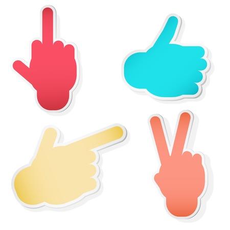 Hand Symbols. Vector illustration Vector