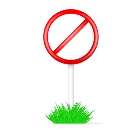 No Sign. Vector illustration