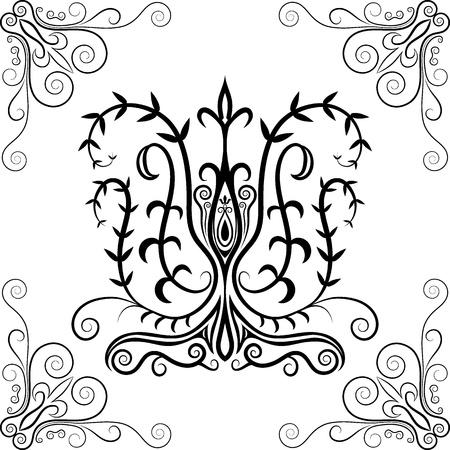 Seamless motif floral Vector illustration