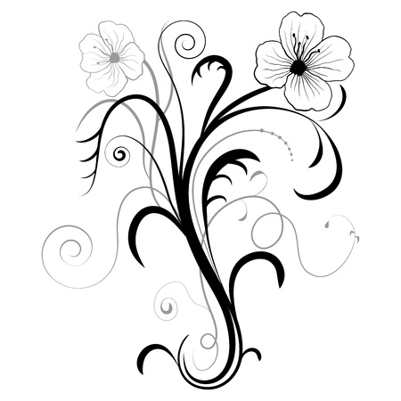 Abstract floral illustration for design  Vector illustration Vector