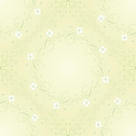 Seamless motif floral. Vector illustration