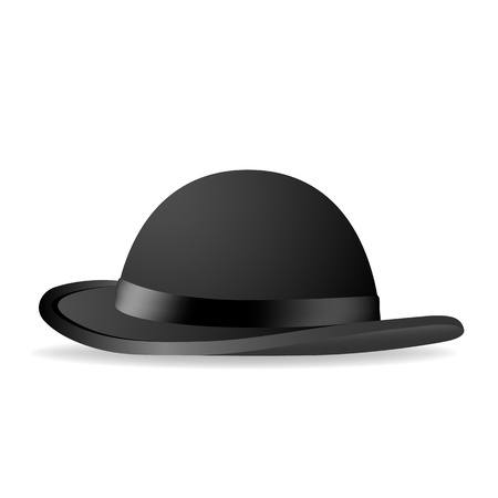 Black bowler hat  Vector illustration Vector