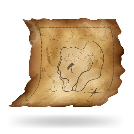 An old map of the island  Vector illustration Vector