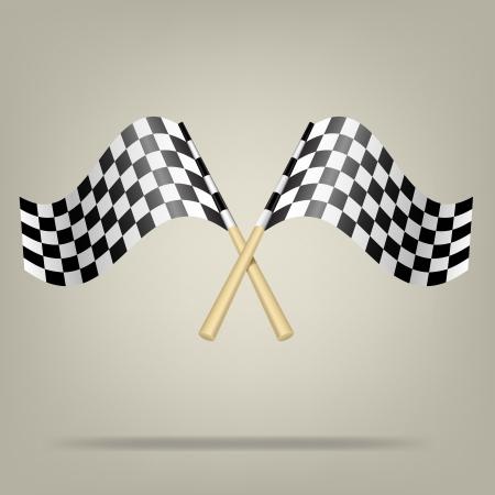 Checkered Racing Flags illustration  Illustration
