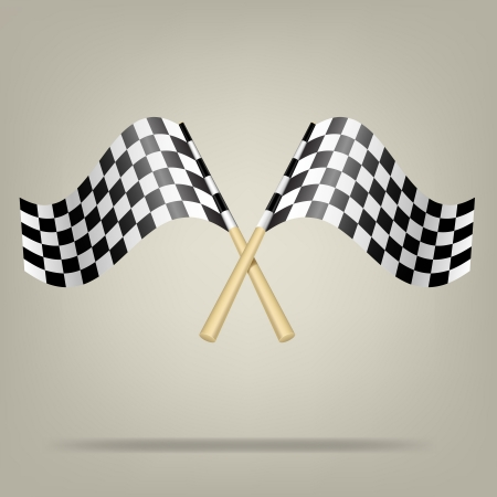 two crossed checkered flags: Checkered Racing Flags illustration  Illustration