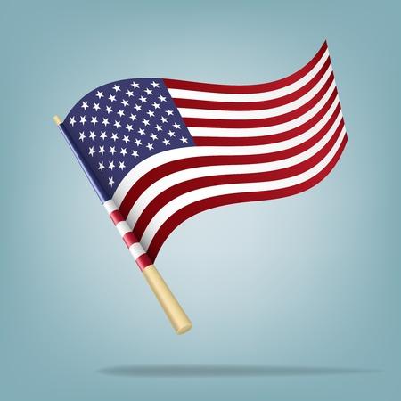american history: American flag illustration Illustration