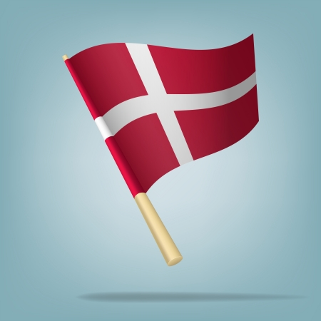 Denmark flag, vector illustration Vector