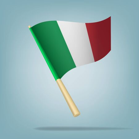 Italy flag, vector illustration Vector