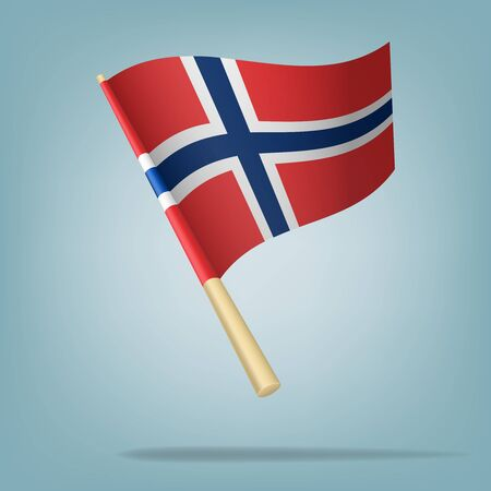 Denmark flag, vector illustration Stock Vector - 22548079