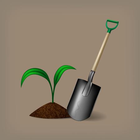 manure: Gardening Illustration